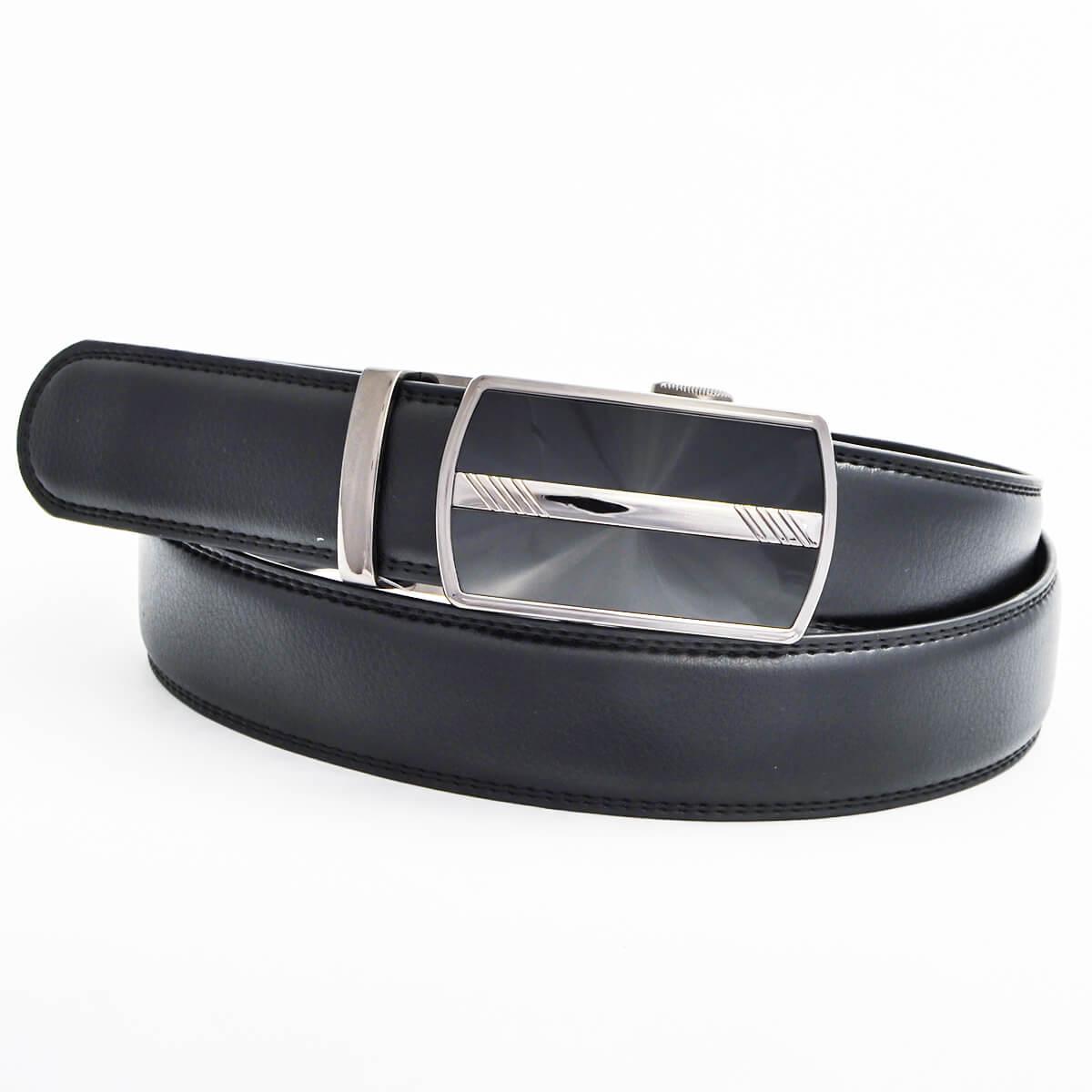 Pánsky kožený opasok - čierny vzor 4, veľkosť 48 (dĺžka 120 cm)