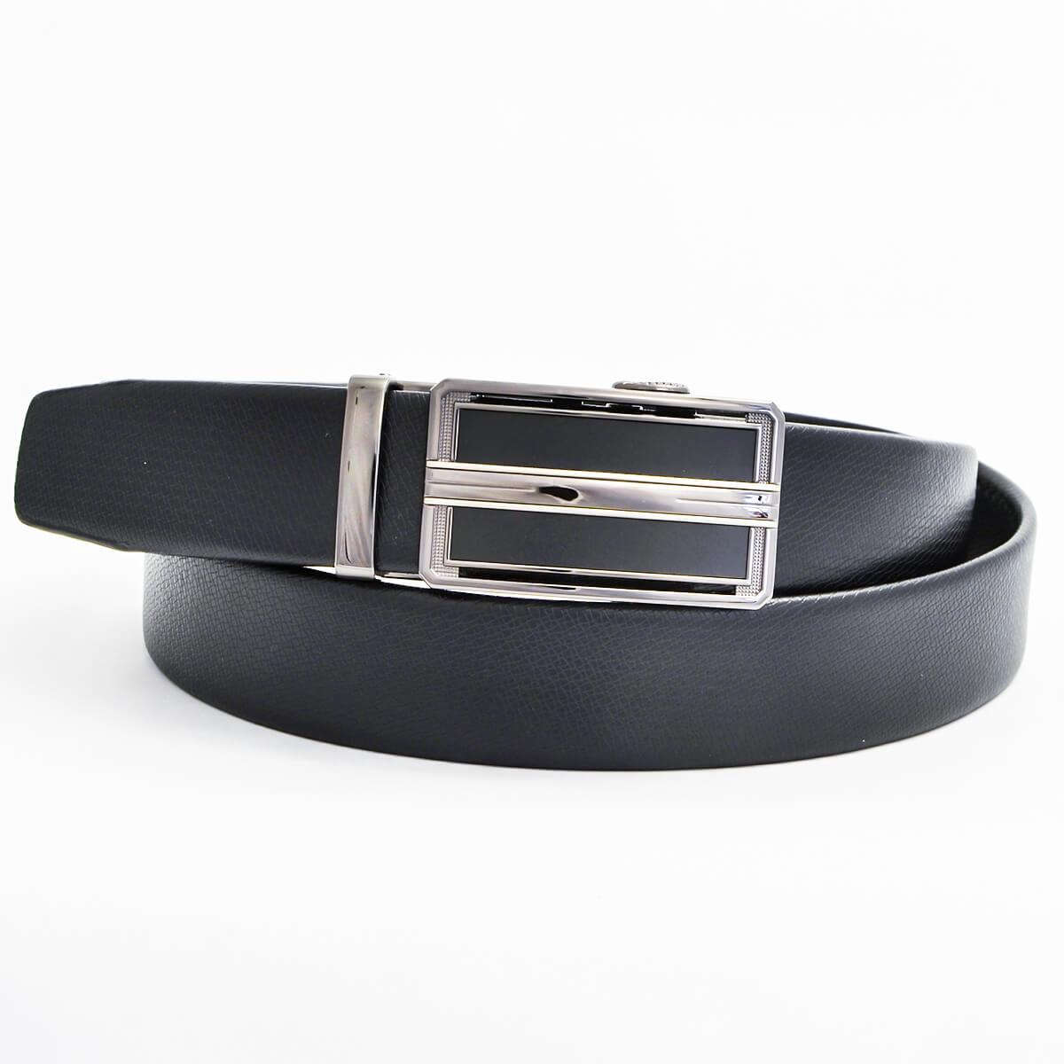 Pánsky kožený opasok - čierny vzor 6, veľkosť 42 (120 cm - 46)