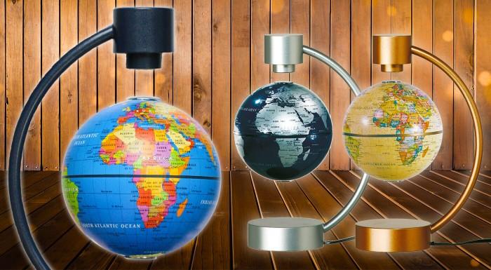 Magnetický glóbus je darček nielen pre geografov. Zapojte ho do elektriny a sledujte, ako sa malá zemeguľa priam magicky vznáša vo vzduchu. Vybrať si môžete z 3 farieb!