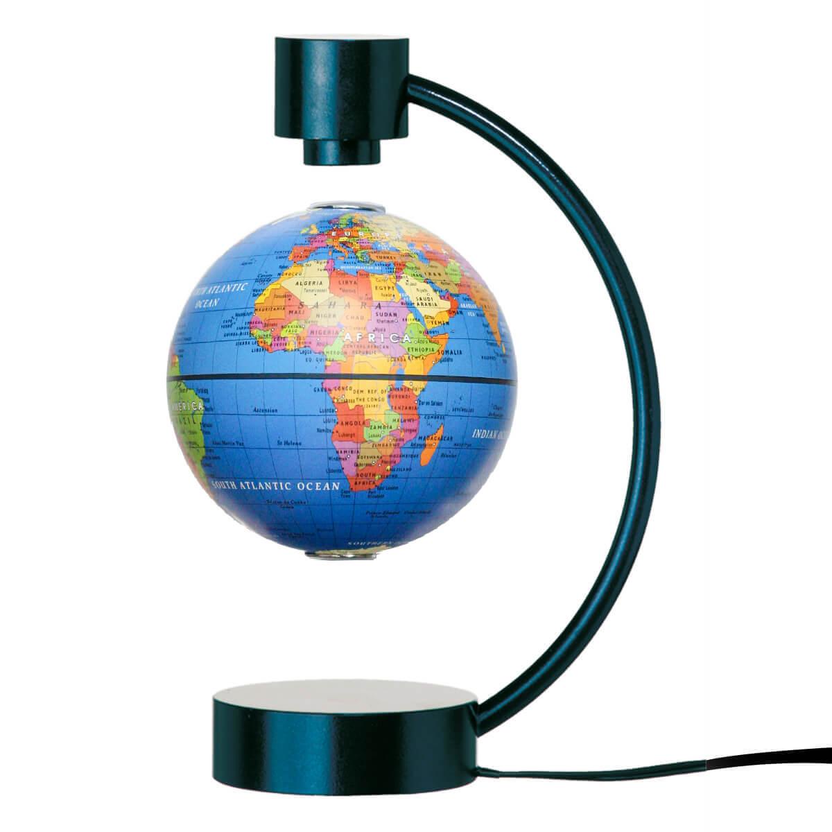 STIEFEL Magnetický glóbus modrý - klasický s anglickými názvami