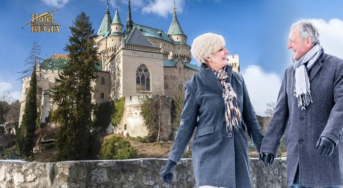 Užite si wellness v Hoteli Regia *** v Bojniciach. Skvelý relaxačný pobyt pre seniorov s masážami, kúpeľmi a polpenziou len na skok od rozprávkového hradu či ZOO.