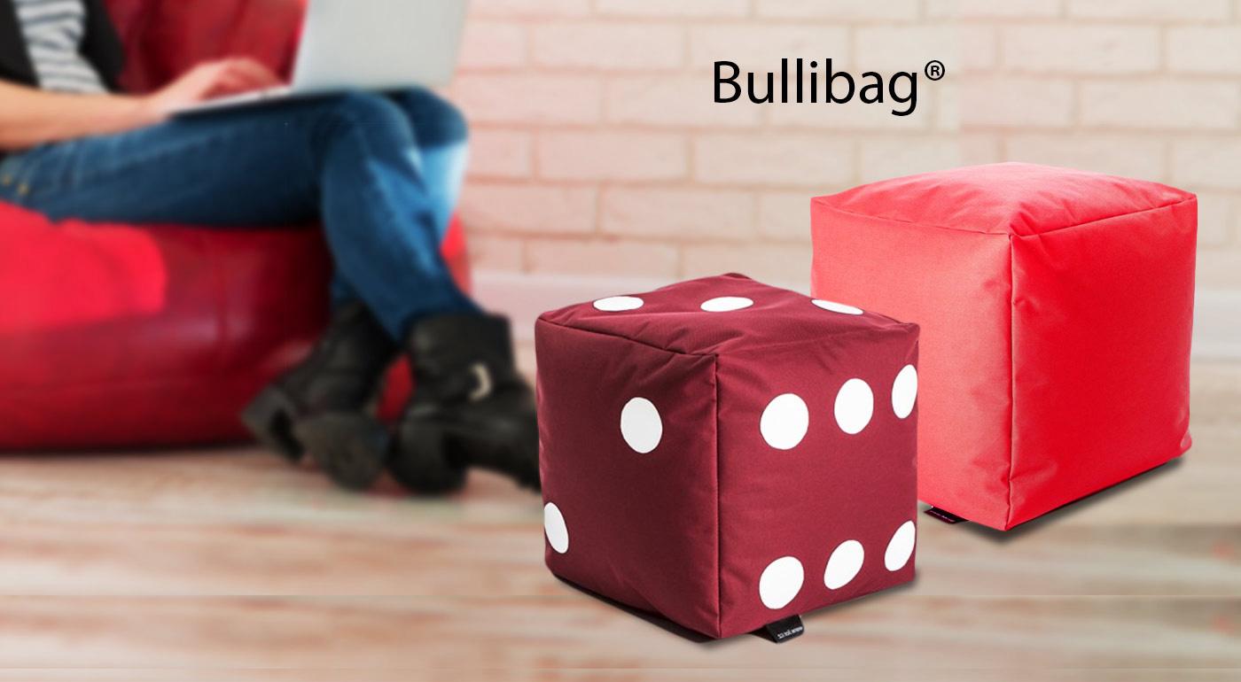 Sedacie kocky nemeckej značky BulliBag, ideálne do detskej izby, na terasu či do obývačky