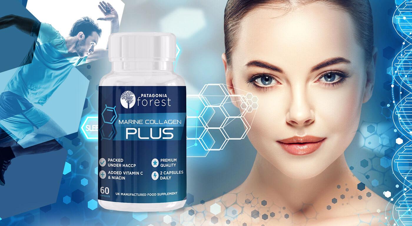 Morský kolagén Marine Collagen Plus 60 kapsúl pre zdravé kĺby, vlasy, nechty a mladšiu pleť