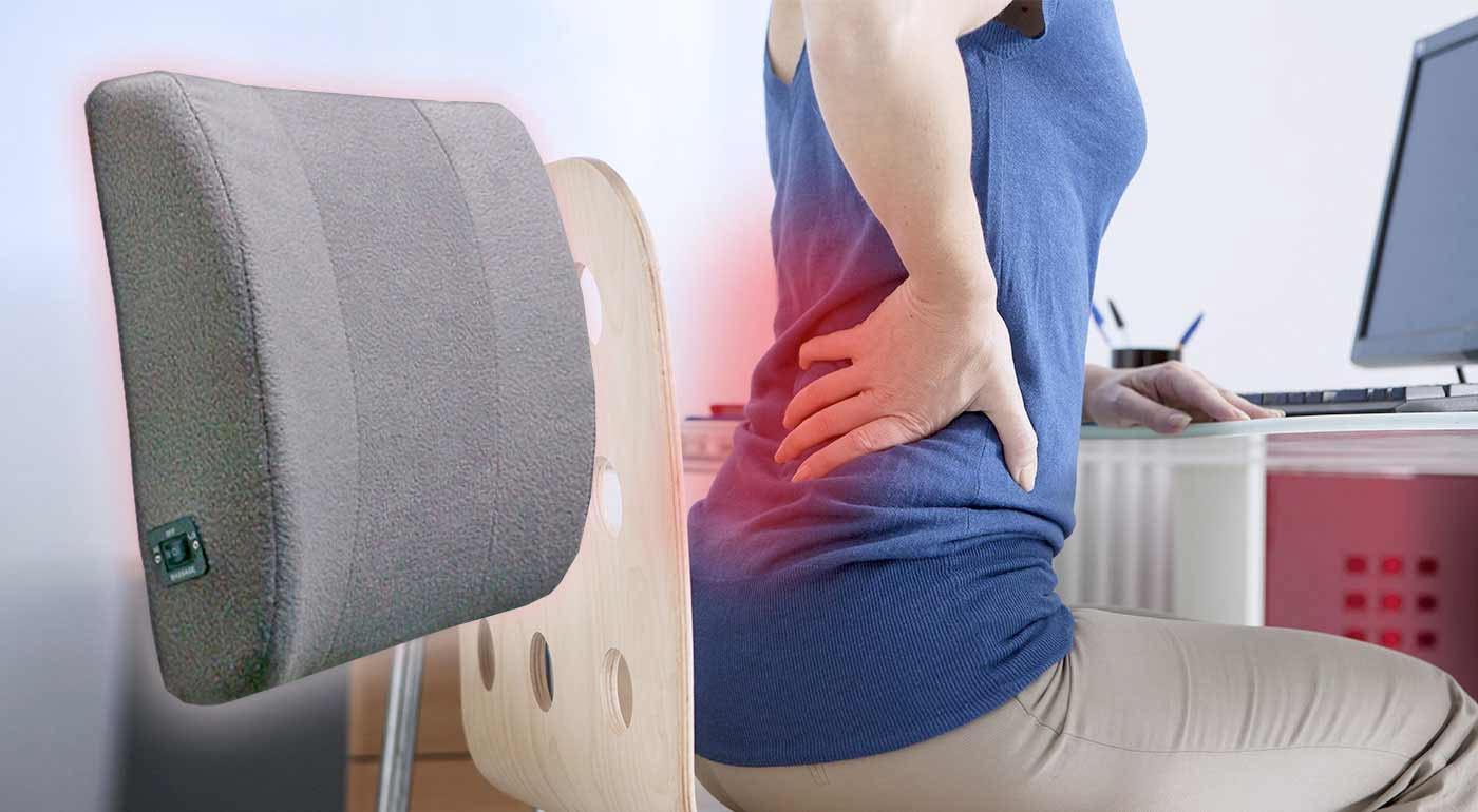 Domáci masér chrbta = nereálny sen? Dá sa splniť veľmi ľahko! Masážna chrbtová opierka jemne vibruje a nepotrebuje ani zapojenie do elektrickej siete. Môžete s ňou zabudnúť na boľavý chrbát.
