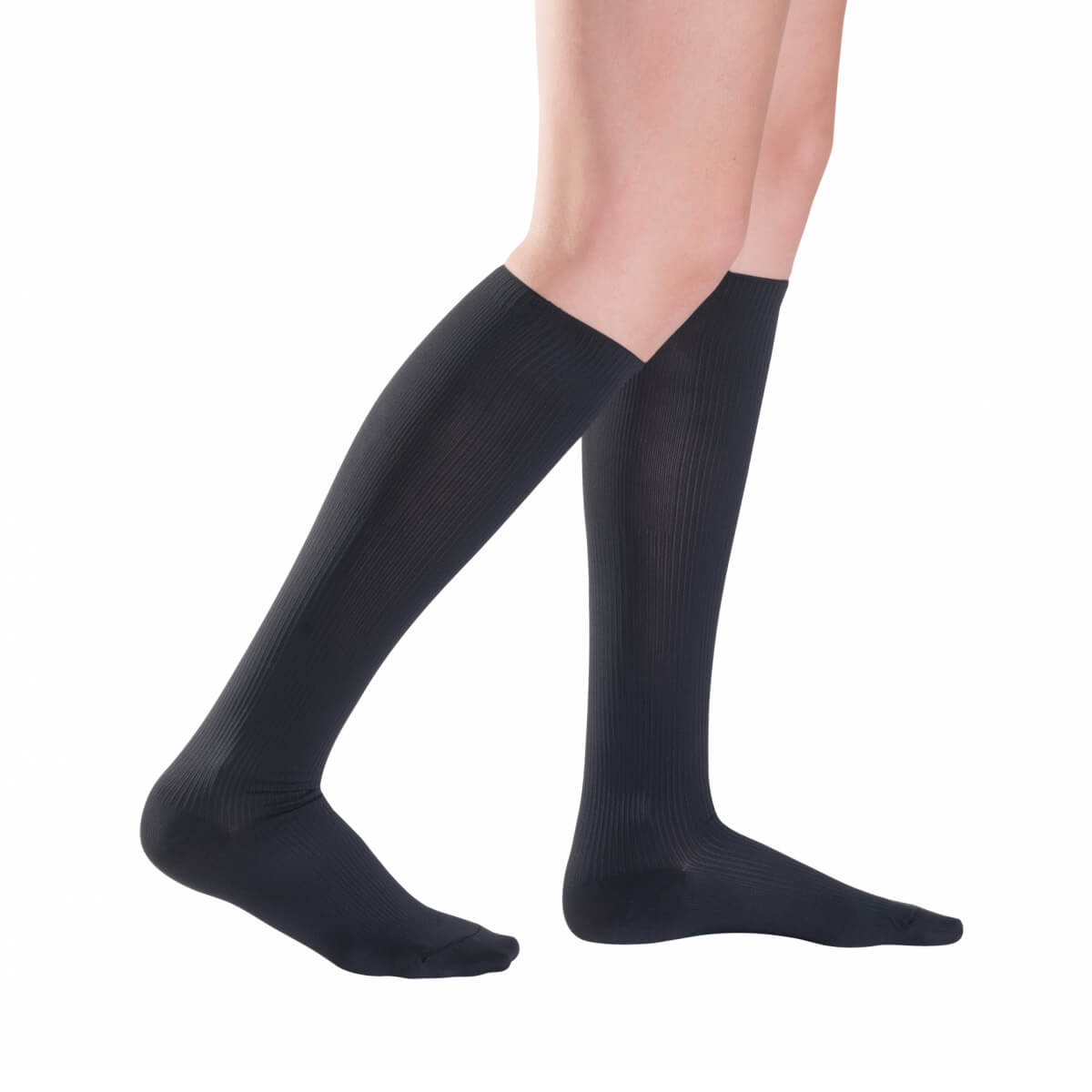 Kompresné ponožky Traveno by SIGVARIS - čierne, veľkosť 36-37