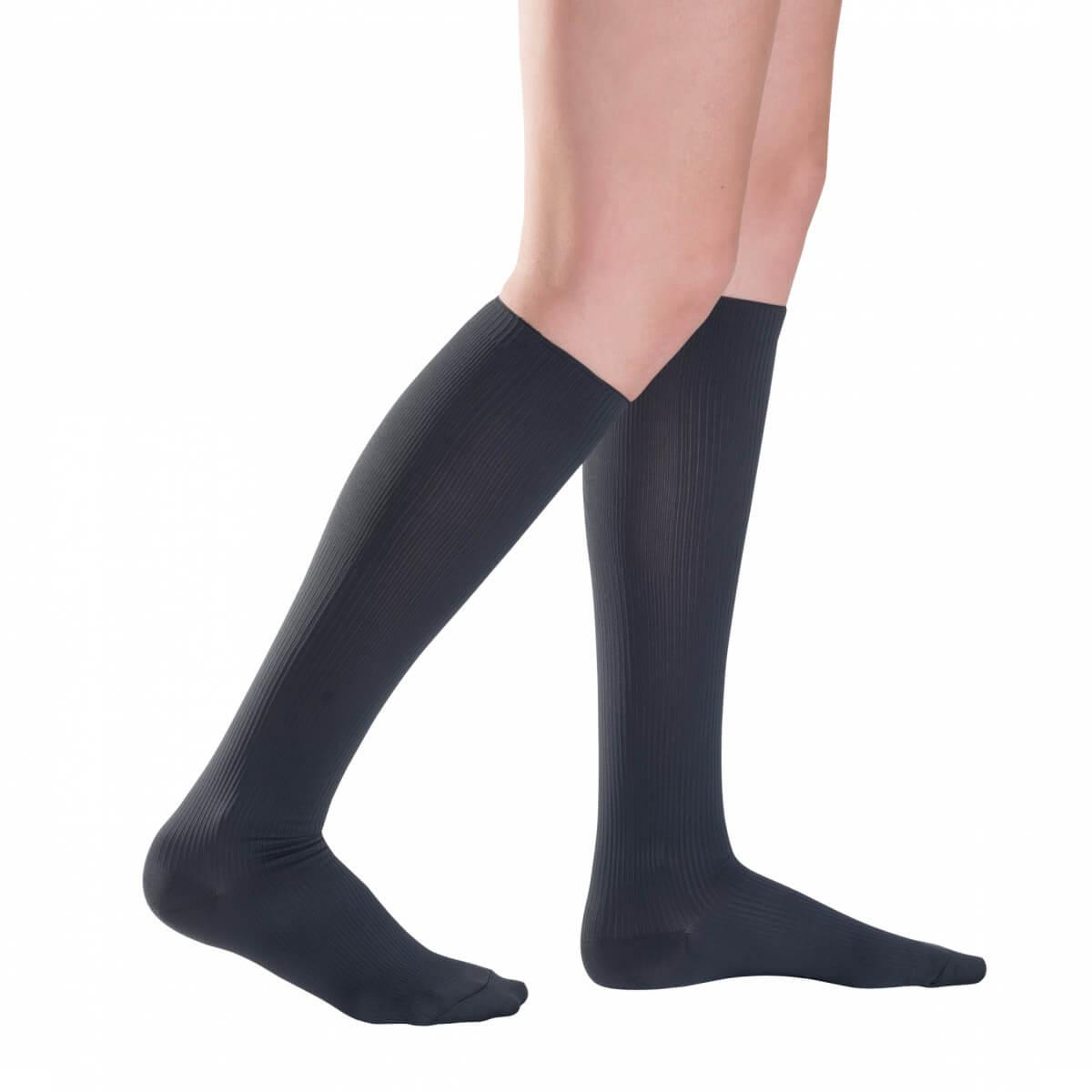 Kompresné ponožky Traveno by SIGVARIS - antracitové, veľkosť 36-37