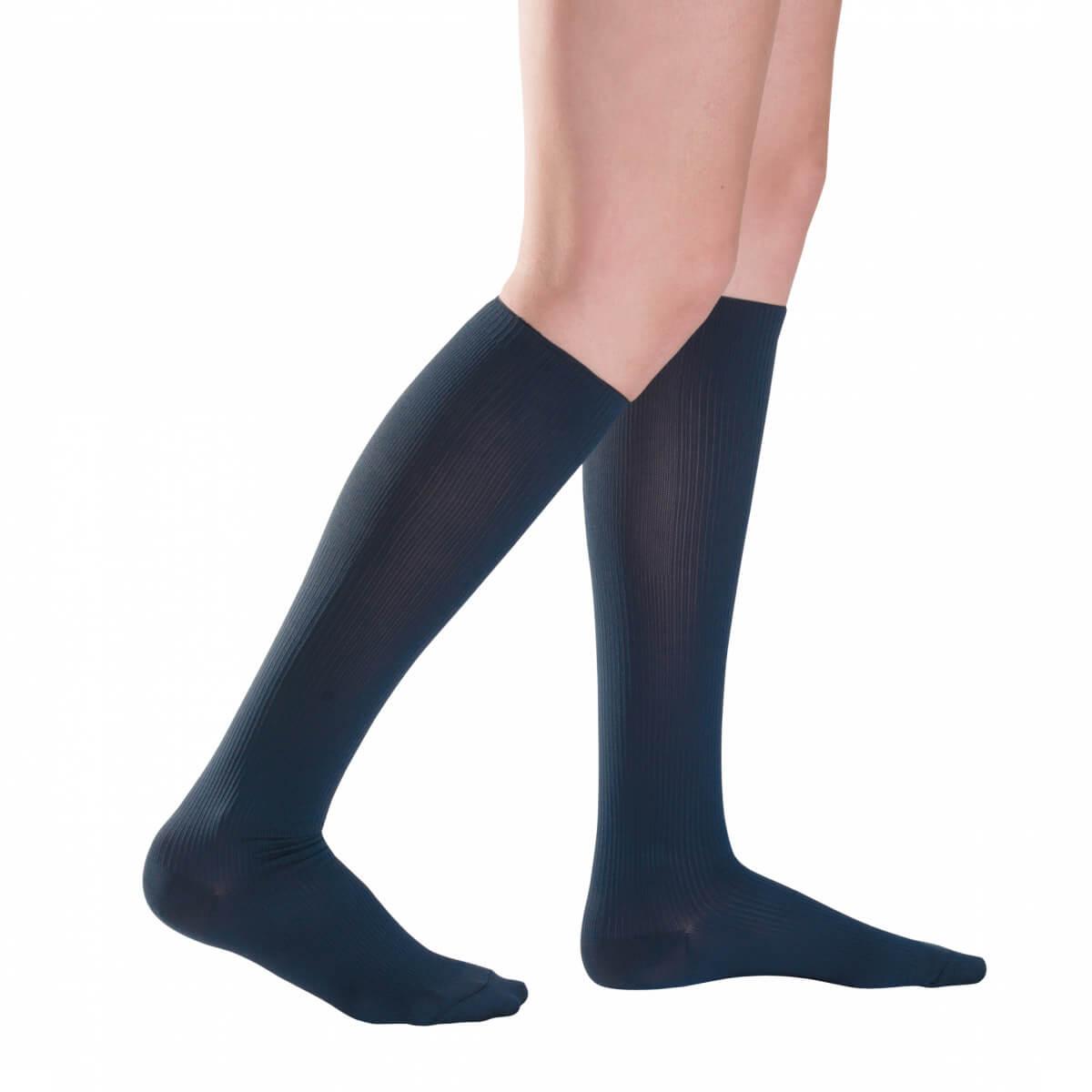 Kompresné ponožky Traveno by SIGVARIS - tmavomodré, veľkosť 36-37