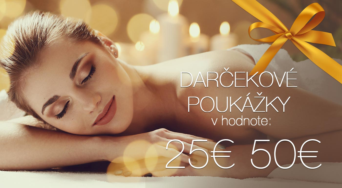 Darčekové poukážky na masáže v Salóne Perfect Body v hodnote 25 € a 50 €