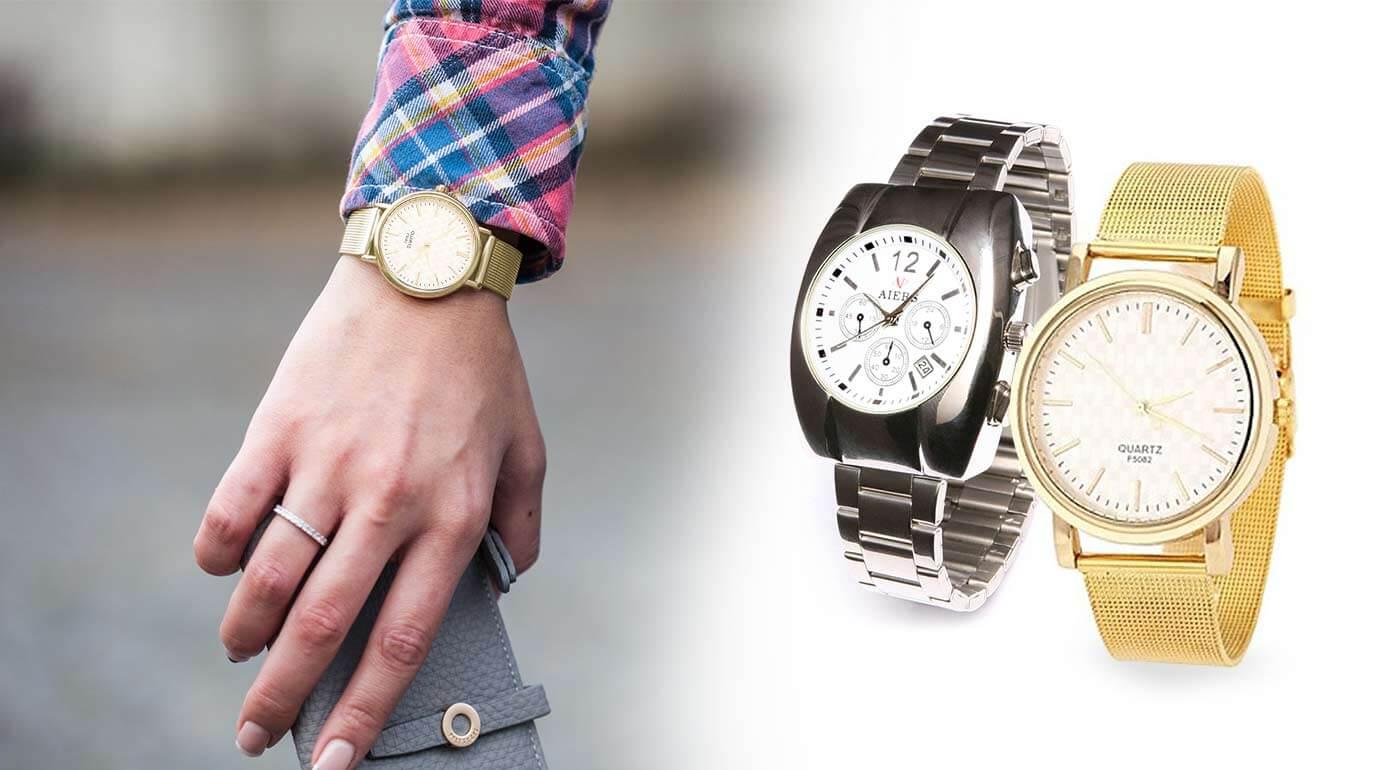 a33d60493 Kvalitné dámske hodinky značky Quartz a Aiers v zlatej alebo striebornej  farbe