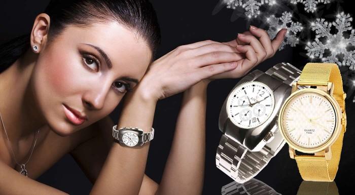 Fotka zľavy: Pri výbere darčeka stavte na klasiku! Strieborné alebo zlaté hodinky Quartz potešia každú dámu. Prvotriedny strojček, jednoduché nastavenie a moderný dizajn z nich robia top darček pre ženu.