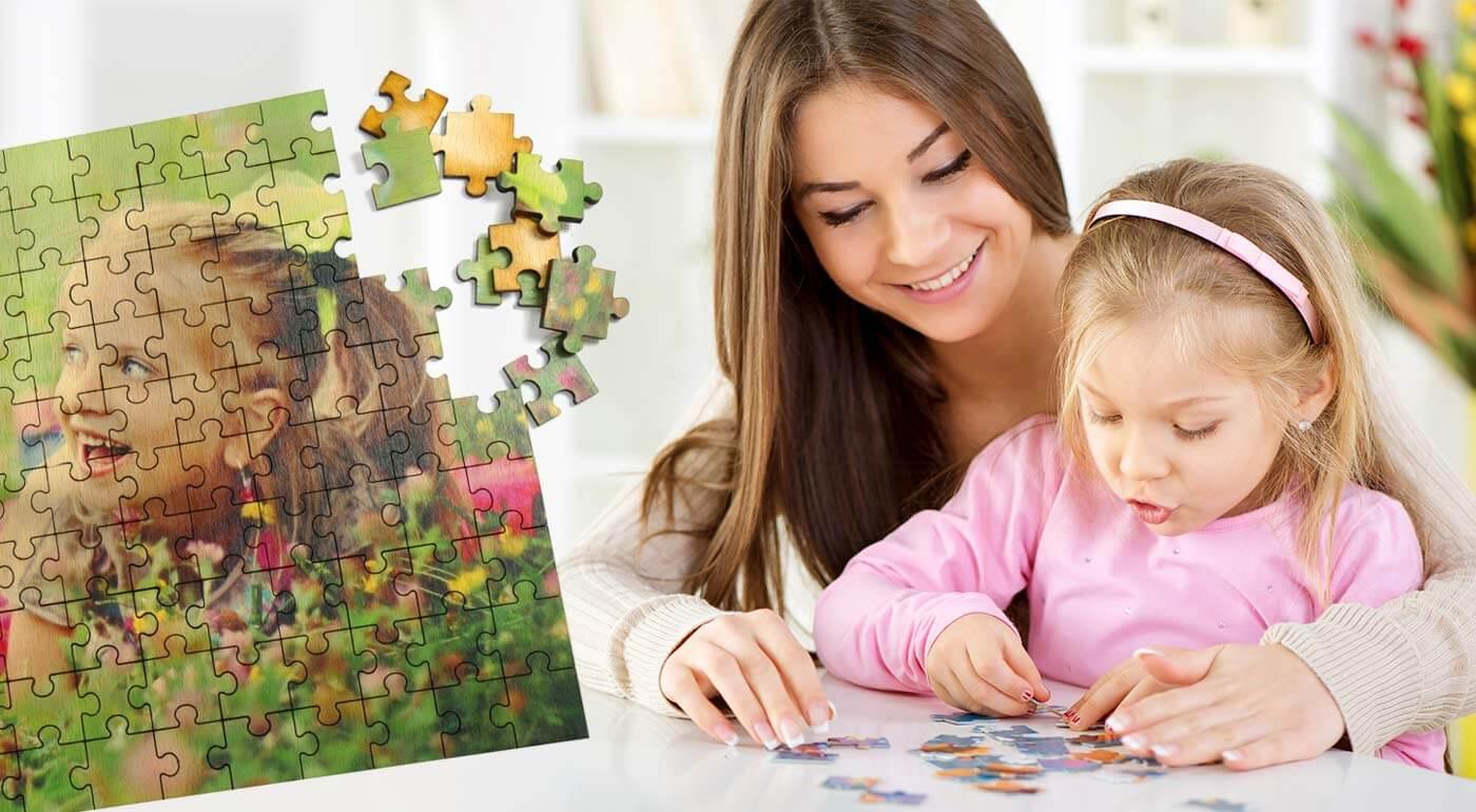 Drevené puzzle s vlastnou potlačou - na výber 3 veľkosti