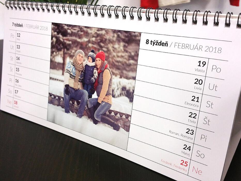 Stolový dvojtýždenný kalendár 29,7 x 14 cm (28 fotografií)