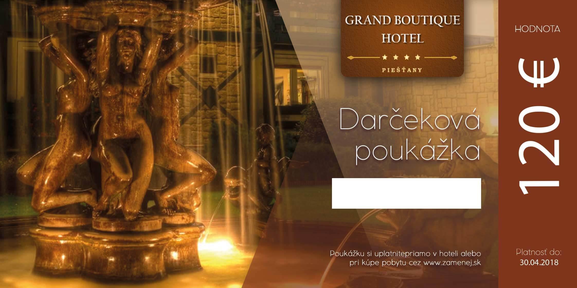 Darčeková poukážka na pobyt v Grand Boutique Hoteli Sergijo**** v hodnote 120 €