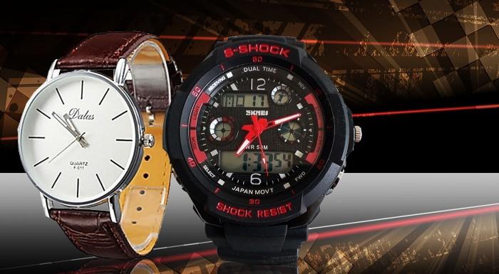 Fotka zľavy: Každý správny džentlmen si zaslúži poriadne hodinky! Vyberte si z elegantných modelov Quartz alebo športový druh Dual Time. Ustrážia váš čas a stanú sa pre vás nenahraditeľným doplnkom.