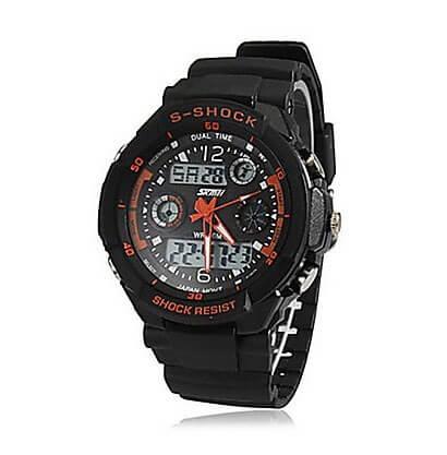 Pánske športové hodinky Dual Time Red