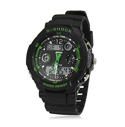 Pánske športové hodinky Dual Time Green