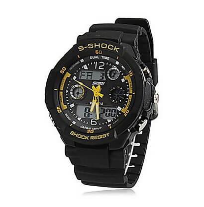 Pánske športové hodinky Dual Time Yellow