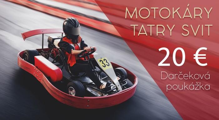 20 € darčeková poukážka na Motokáry Tatry Svit