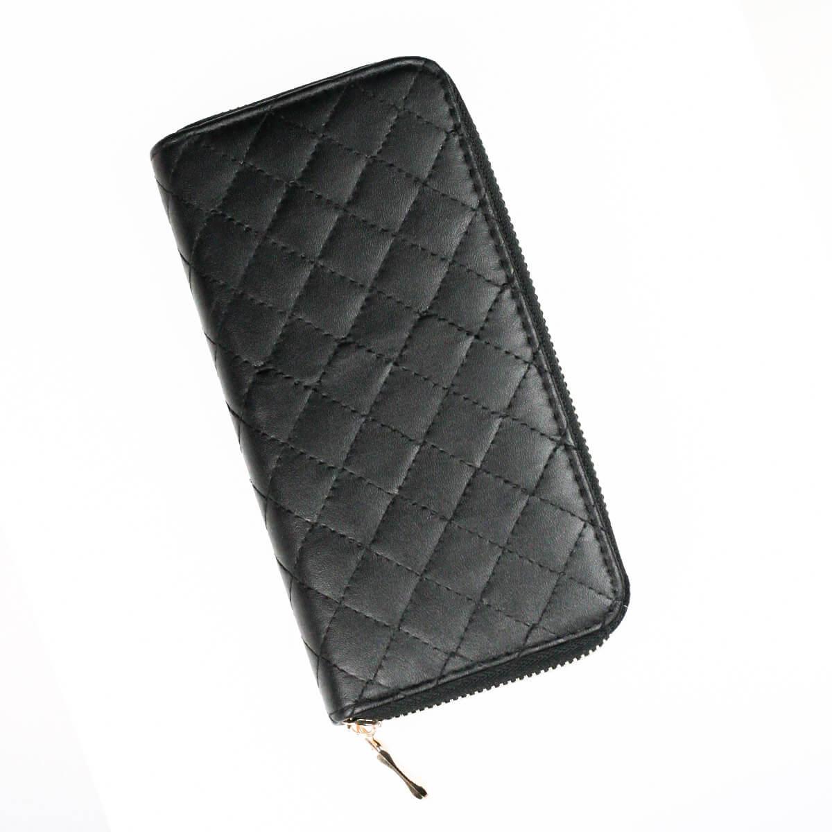 Dámska peňaženka na zips čierna