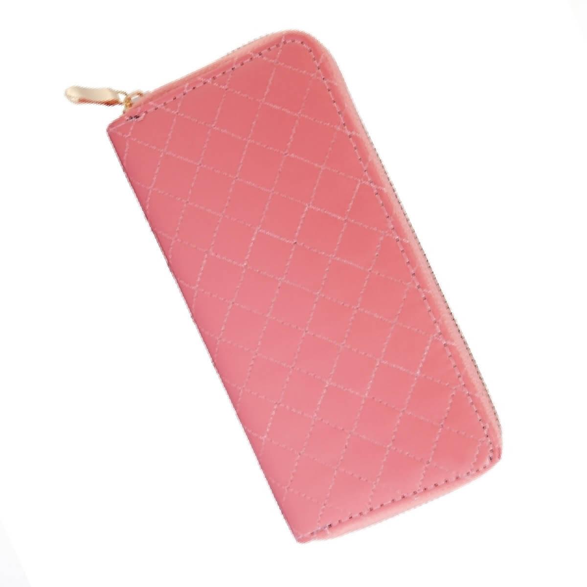 Dámska peňaženka na zips ružová
