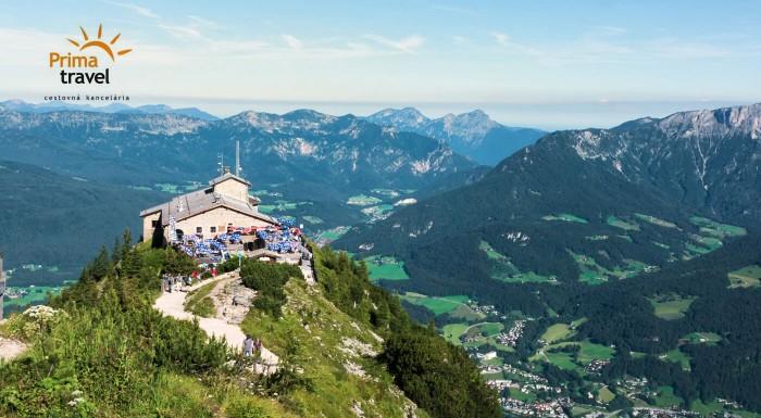Zľava 34%: Urobte si jednodňový výlet na chatu samotného Adolfa Hitlera. Orlie hniezdo ponúka neskutočný výhľad na Bavorské Alpy a čaká vás aj plavba po smaragdovom jazere Königsee.