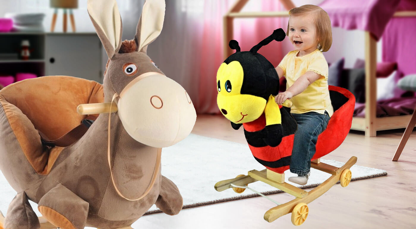 Hojdacie zvieratko je nadčasová hračka, na ktorú bude vaše dieťatko dlho spomínať. Je vyrobené z kvalitného dreva a plyšu. Navyše spieva a preklopením koliesok sa zmení na odrážadlo!