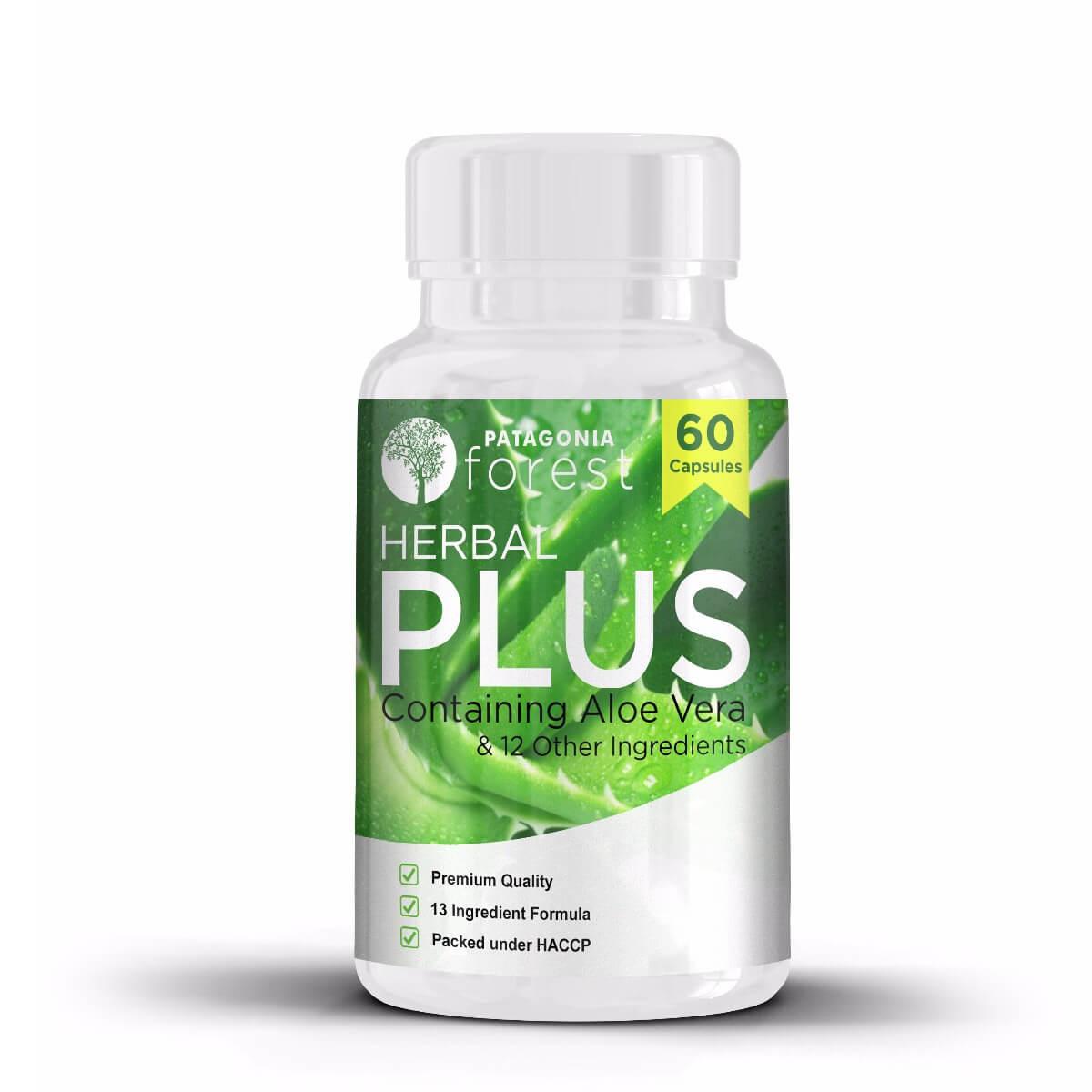 Patagonia Forest: Herbal Plus komplex s výťažkom z aloe vera (balenie 60 kapsúl)