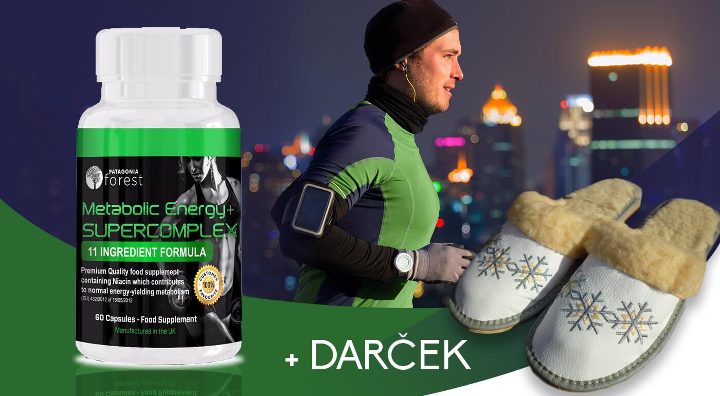 Prírodný spaľovač tukov Metabolic Energy + Supercomplex 60 kapsúl - pri kúpe 3 balení špeciálny darček ZDARMA!