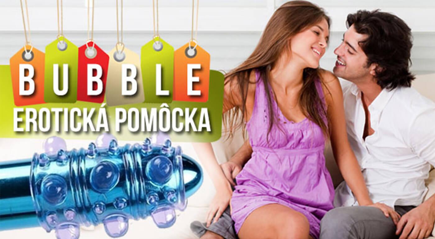 Návlek na penis BUBBLE s bublinkovými výstupkami pre pikantné intímne chvíle