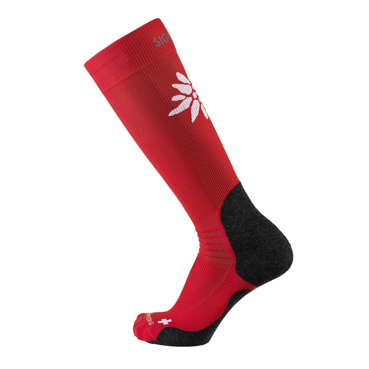 Turistické podkolienky SIGVARIS - červené, veľkosť obuvi 35-38,5, obvodová veľkosť XS