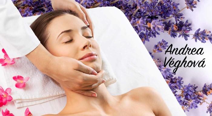 Fotka zľavy: Náročný deň? Oddajte sa relaxačným účinkom levanduľového oleja a doprajte si voňavých 40 minút s masážou tváre, krku a dekoltu v Relaxačnom salóne.