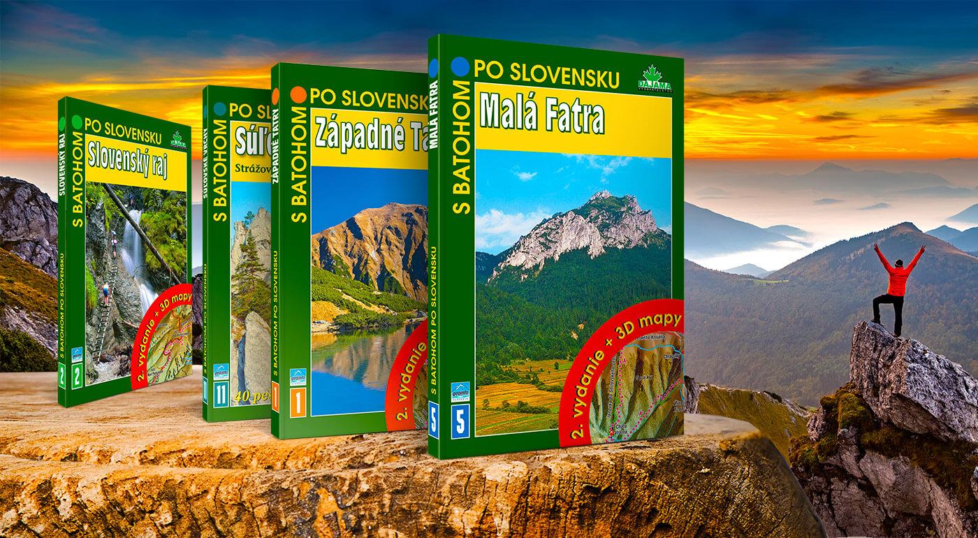 Knihy DAJAMA z edície S batohom po Slovensku - turistický sprievodca do vrecka z každého slovenského regiónu