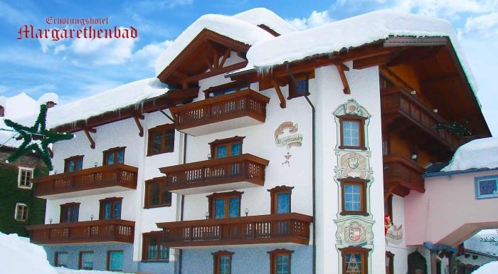 Alpský vzduch lieči nielen telo, ale i myseľ. Príďte si užiť wellness či lyžovačku do Erholungshotel Margarethenbad**** v Rakúsku a užite si kúpeľnú vodu z liečivého prameňa.