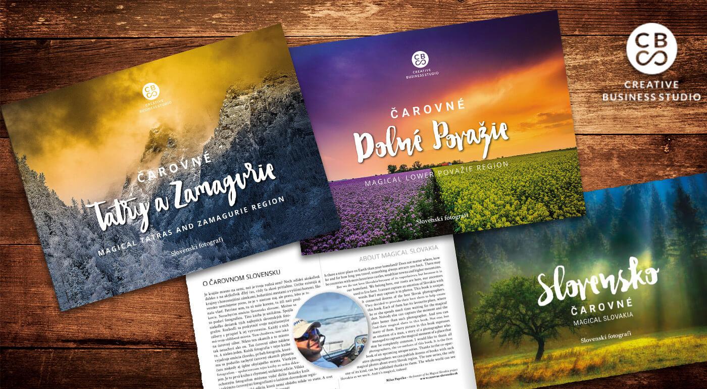 Unikátna edícia kníh CBS - Čarovné Slovensko s najkrajšími fotografiami našich krajov + DARČEK maľovaná mapa ku každej knižke