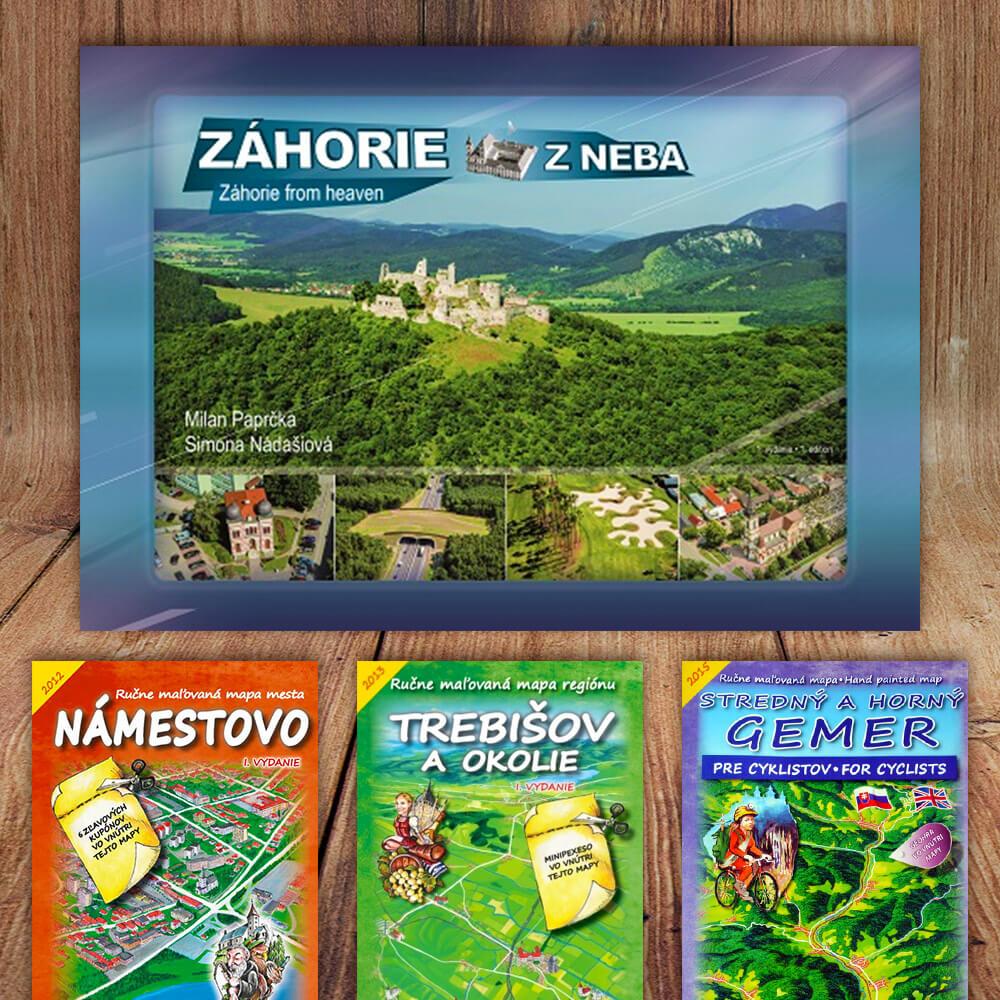 Kniha Novohrad z neba (vydavateľstvo CBS) + DARČEK maľovaná mapa