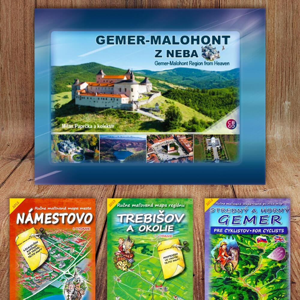 Kniha Gemer - Malohont z neba (vydavateľstvo CBS) + DARČEK maľovaná mapa