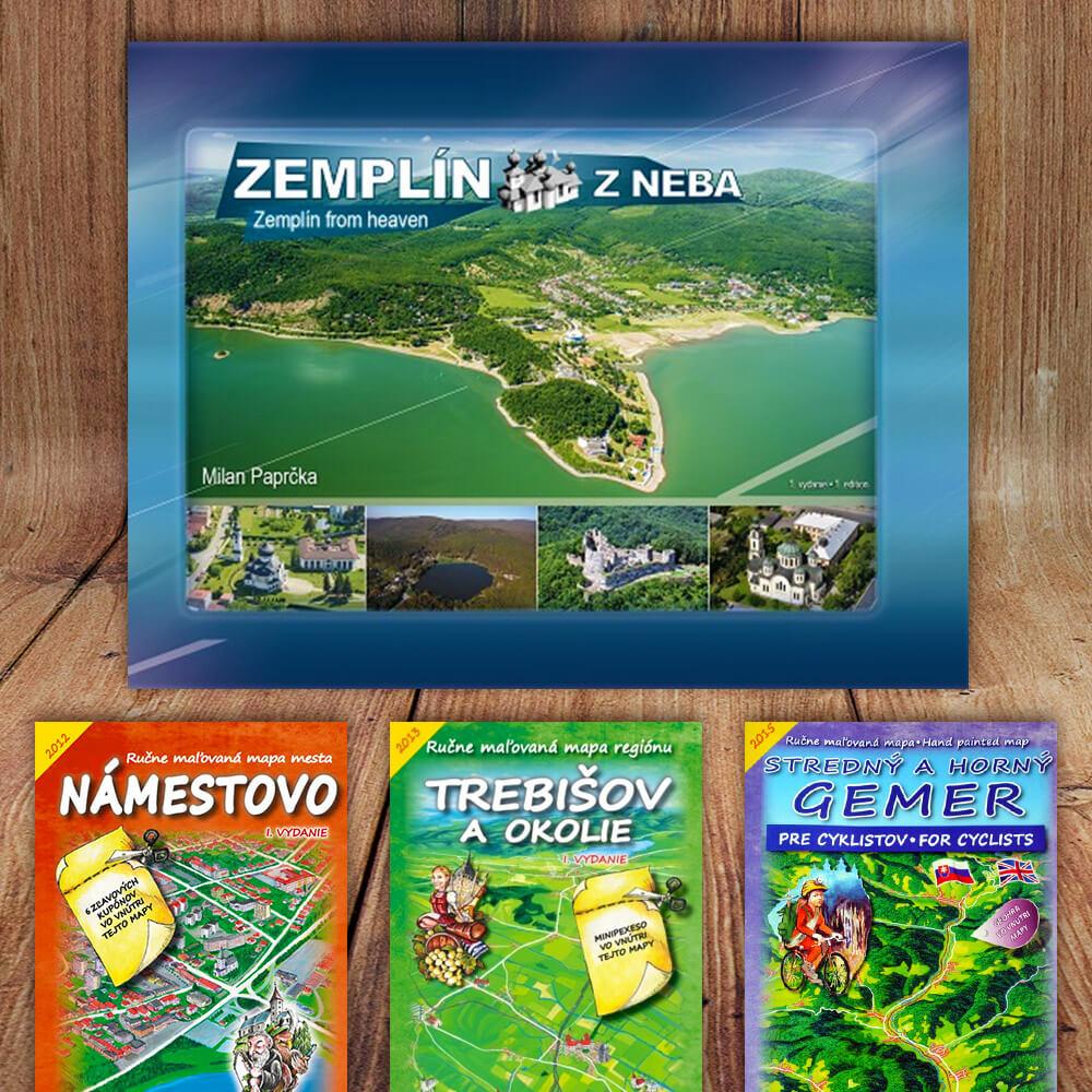 Kniha Zemplín z neba (vydavateľstvo CBS) + DARČEK maľovaná mapa