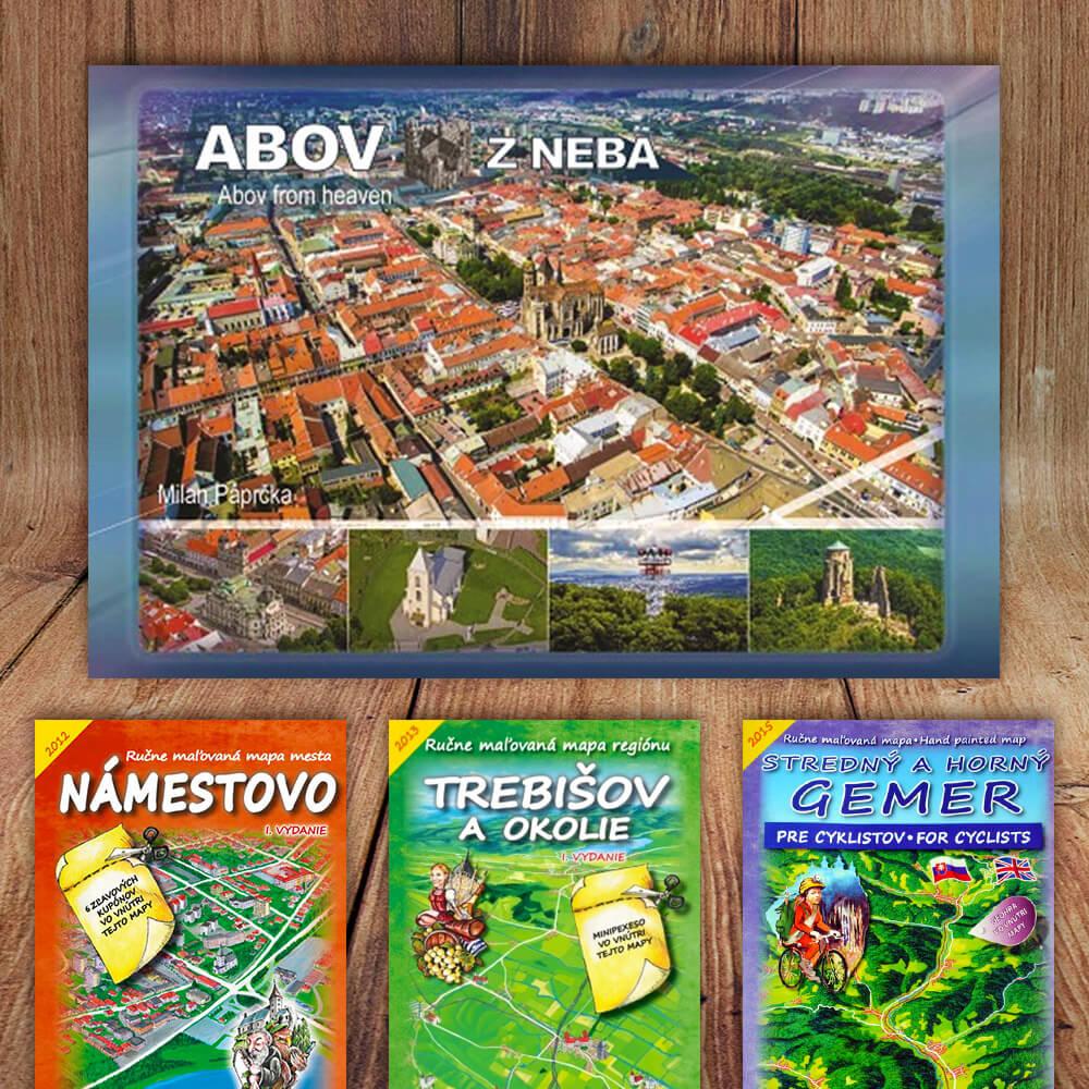 Kniha Abov z neba (vydavateľstvo CBS) + DARČEK maľovaná mapa