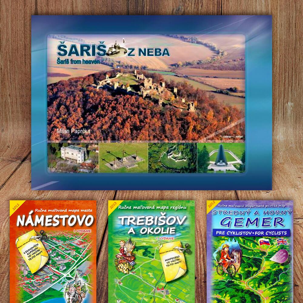 Kniha Šariš z neba (vydavateľstvo CBS) + DARČEK maľovaná mapa
