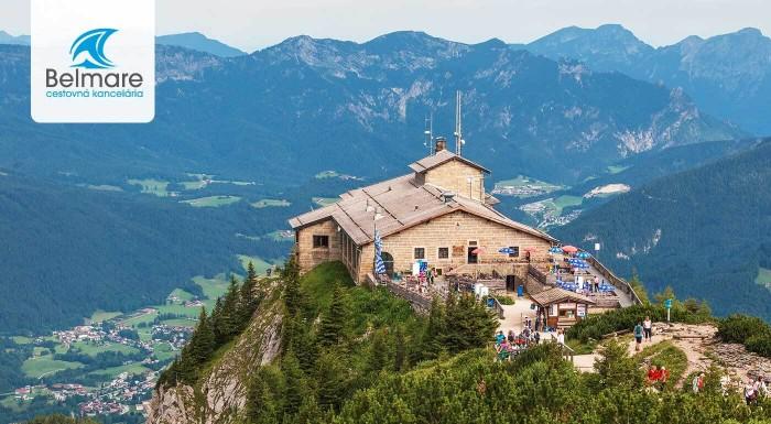 Zľava 30%: Vydajte sa po stopách poznania - navštívte Hitlerovo Orlie Hniezdo, národný park i rodné mesto Mozarta - Salzburg. Neseďte doma a objavujte krásy sveta.