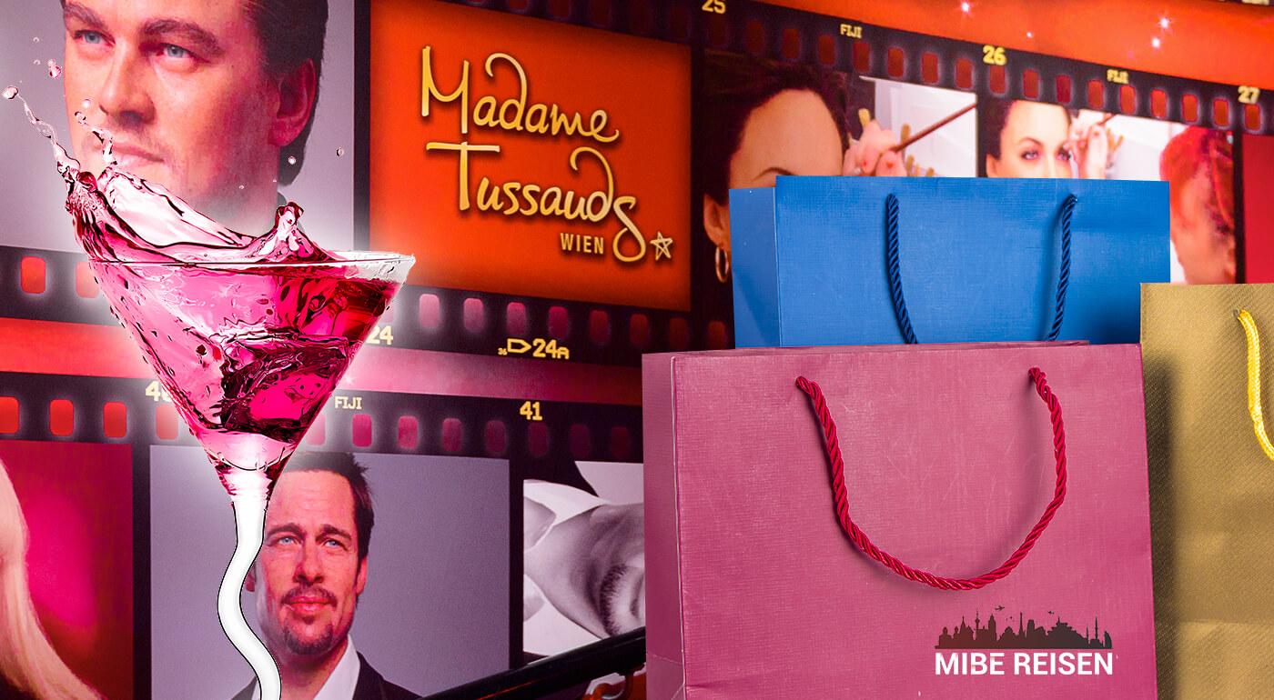 Viedeň: Zájazd do Múzea šnapsu, voskových figurín Madame Tussauds a nákupy v Shopping City Süd