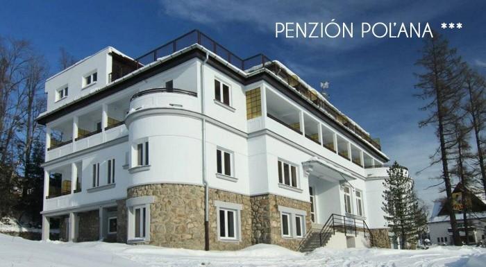 Fotka zľavy: Pripravte sa na bezchybnú zimu v Penzióne Poľana*** v Tatrách s wellness a polpenziou. Čaká vás sánkovačka z Hrebienka, lyžovačka v Tatranskej Lomnici, Smokovci a na Štrbskom plese aj turistika.