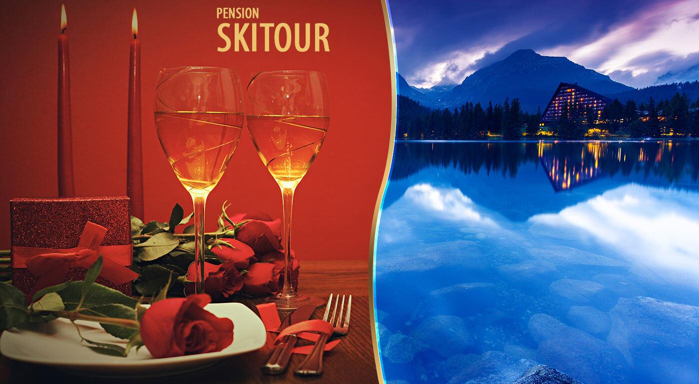 Valentínsky pobyt Vysoké Tatry: 3 relaxačné dni v Penzióne Skitour**+ s romantickým prekvapením a vstupom do Aquacity Poprad