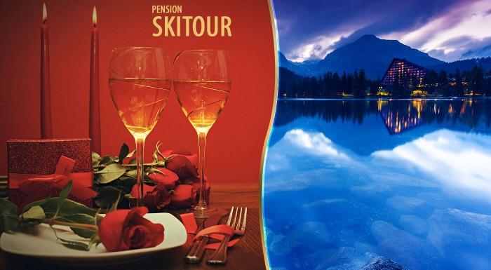 Fotka zľavy: Relax pre zamilovaných jedine vo Vysokých Tatrách! Užite si 3 dni v Penzióne Skitour**+ s raňajkami, fľašou sektu s prekvapením a celodenným vstupom do Aquacity Poprad.