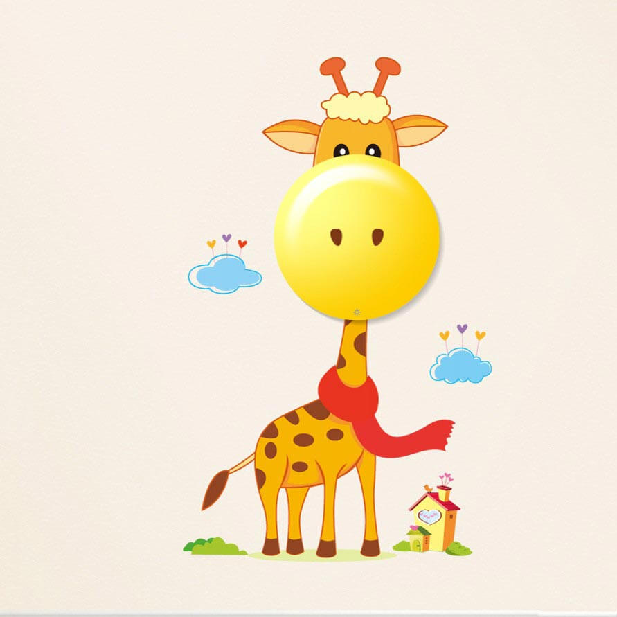 Dotyková LED lampa pre deti Žirafka s nálepkami