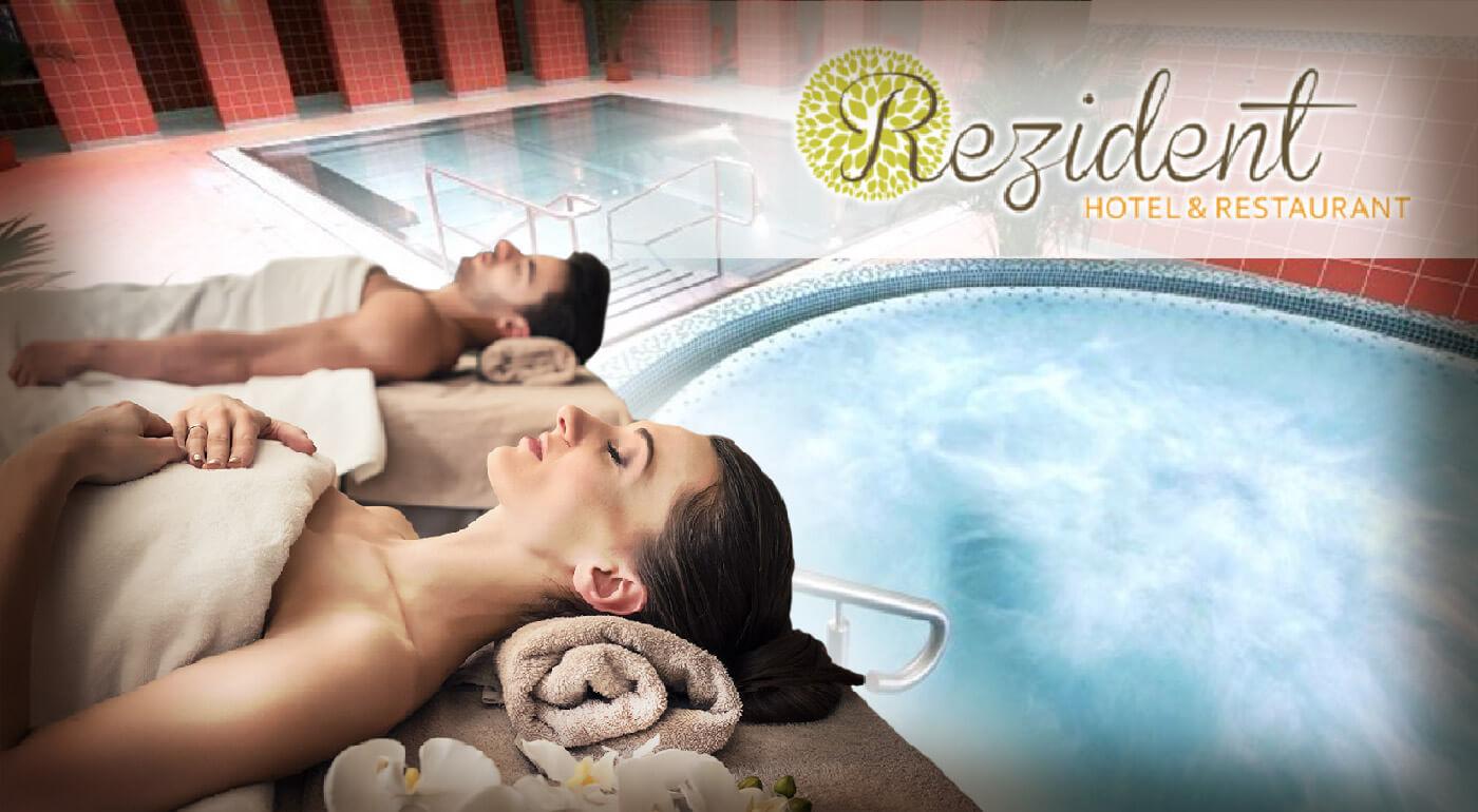 Turčianske Teplice: Pobyt v Hoteli Rezident*** s wellness procedúrami, vstupom do aquaparku a s polpenziou