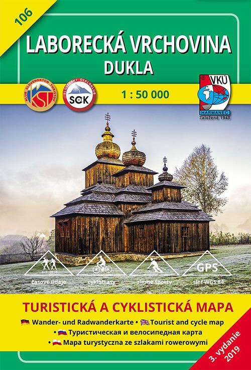 VKÚ Harmanec Turistická mapa Laborecká vrchovina - Dukla 1:50 000 TM 106