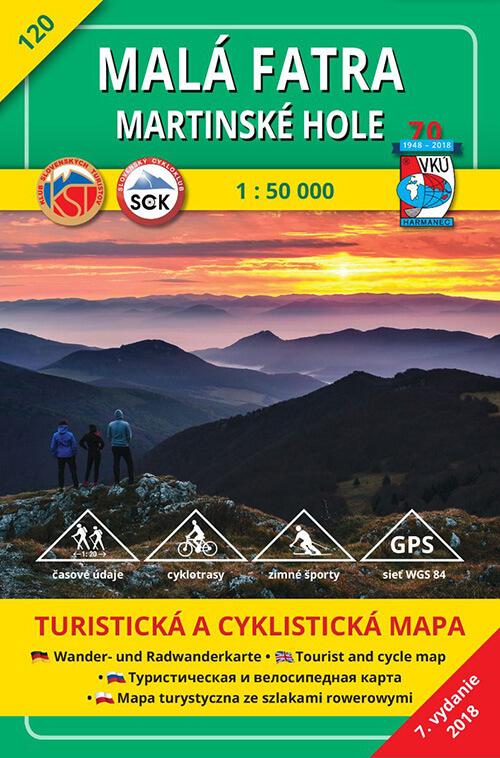 VKÚ Harmanec Turistická mapa Malá Fatra - Martinské hole 1:50 000 TM 120