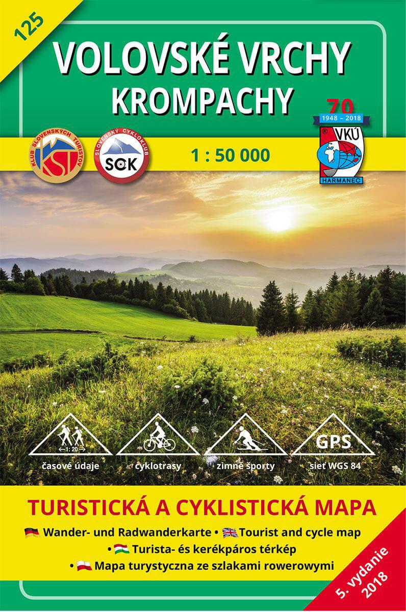 VKÚ Harmanec Turistická mapa Volovské vrchy - Krompachy 1:50 000 TM 125