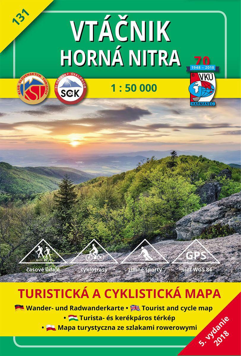 VKÚ Harmanec Turistická mapa Vtáčnik - Horná Nitra 1:50 000 TM 131